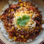 Healthy Crock Pot Chicken Taco Chili
