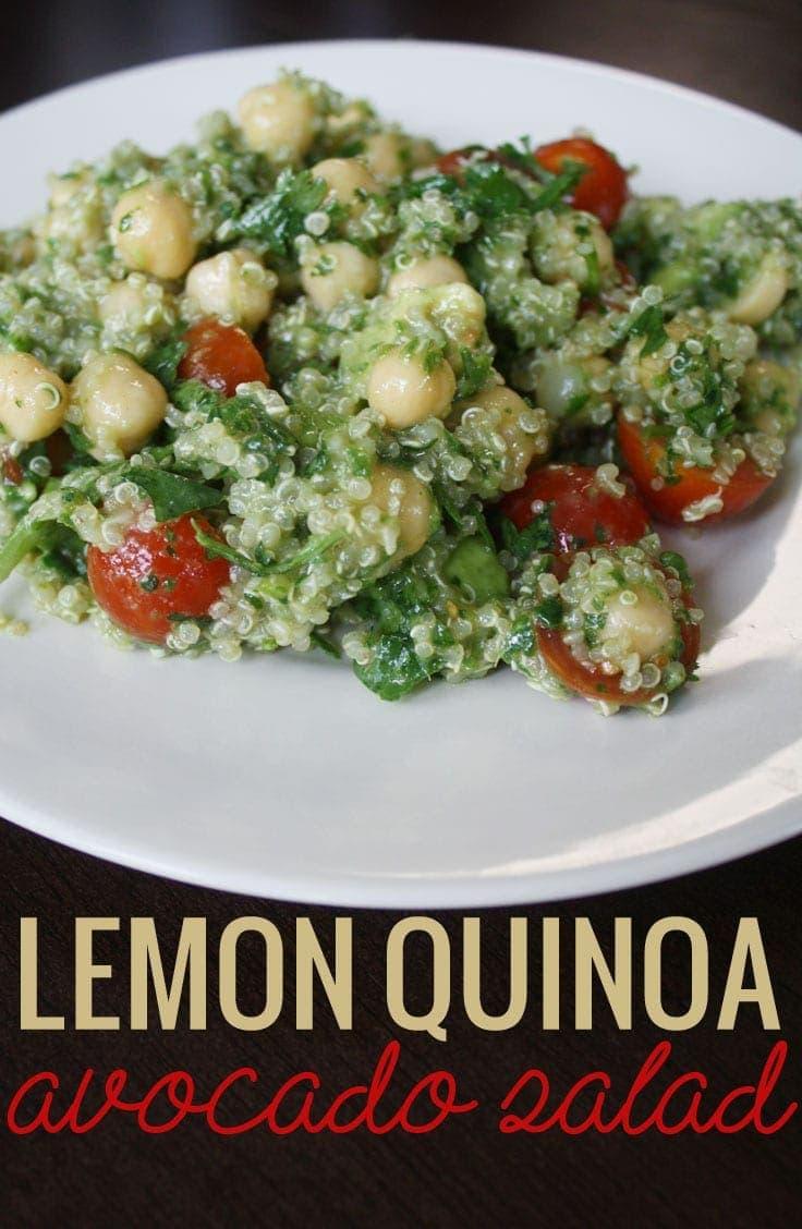 Lemony Quinoa and Avocado Salad | Funny | Pinterest