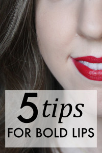 5 tips for bold lips