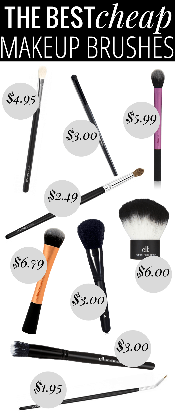 The Best Cheap Makeup Brushes - every brush youu0026#39;ll need, all for under ...