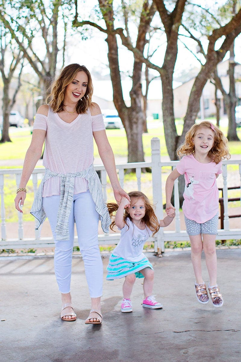 Adorable mommy and me outfits for play and weekends - fun items from Kohl's!